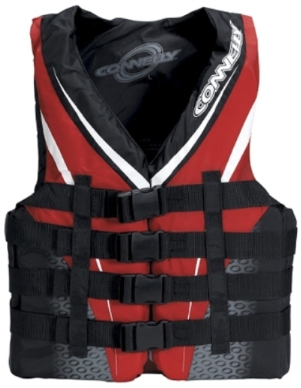 MEN'S 4-BUCKLE NYLON VEST | GREY/RED - XXLARGE CONNELLY 2018