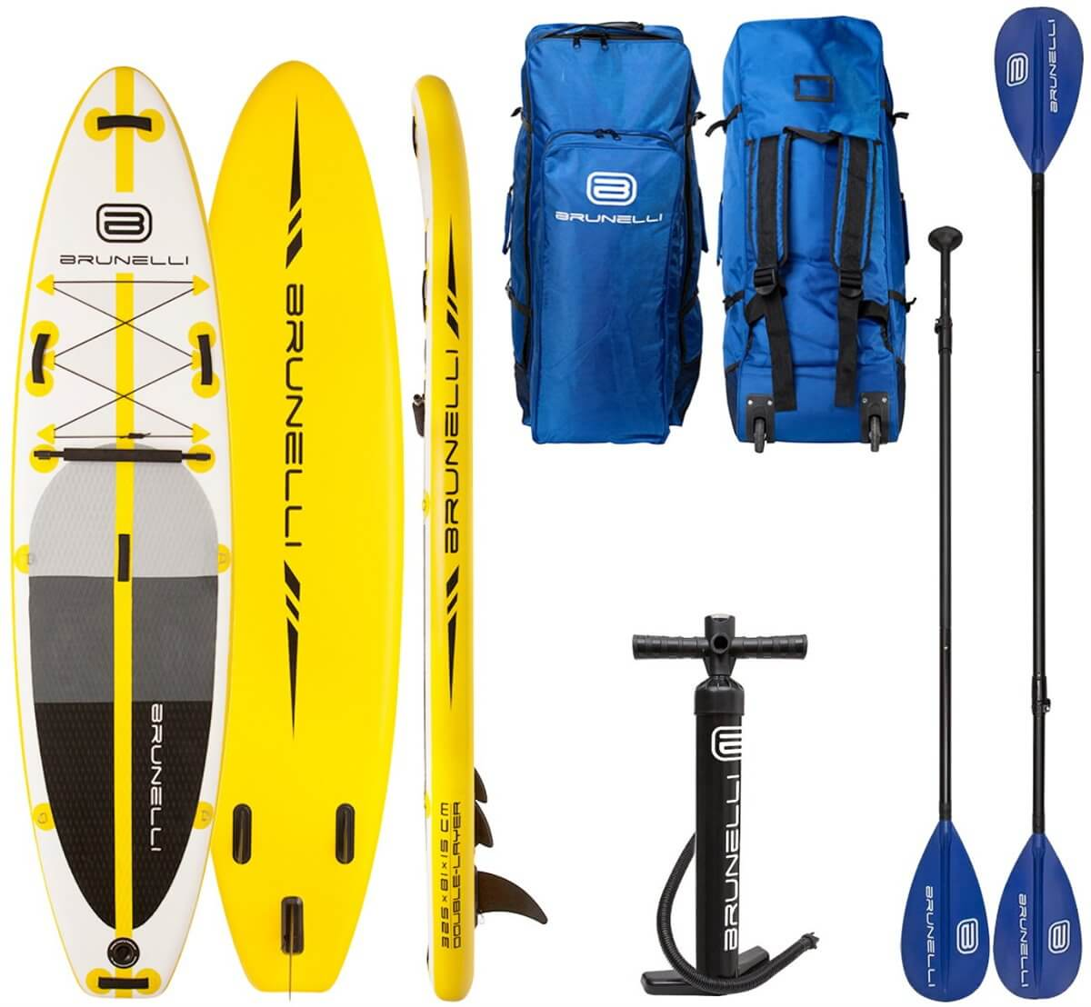 10.8 ISUP BOARD PACKAGE W/PADDLE - YELLOW BRUNELLI 2018