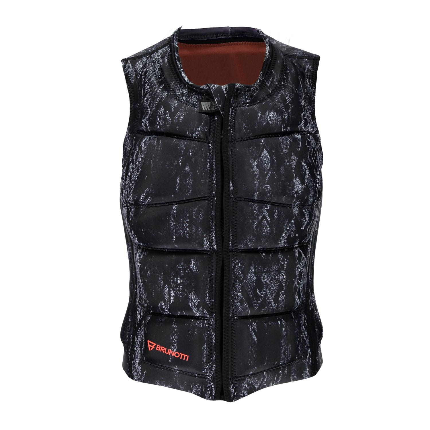 FADED WAKEVEST FZ WOMEN VEST BLACK BRUNOTTI 2018