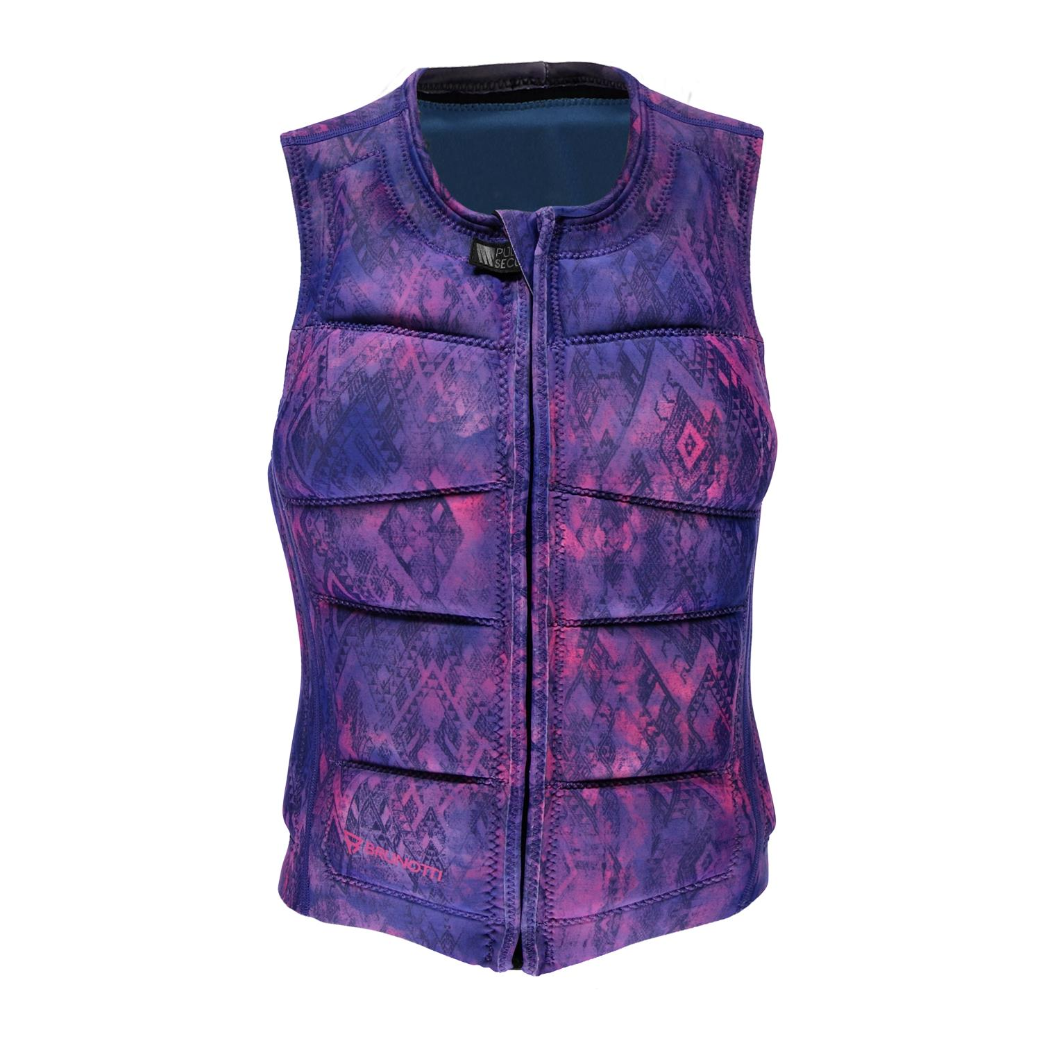 FADED WAKEVEST FZ WOMEN VEST PURPLE BRUNOTTI 2018