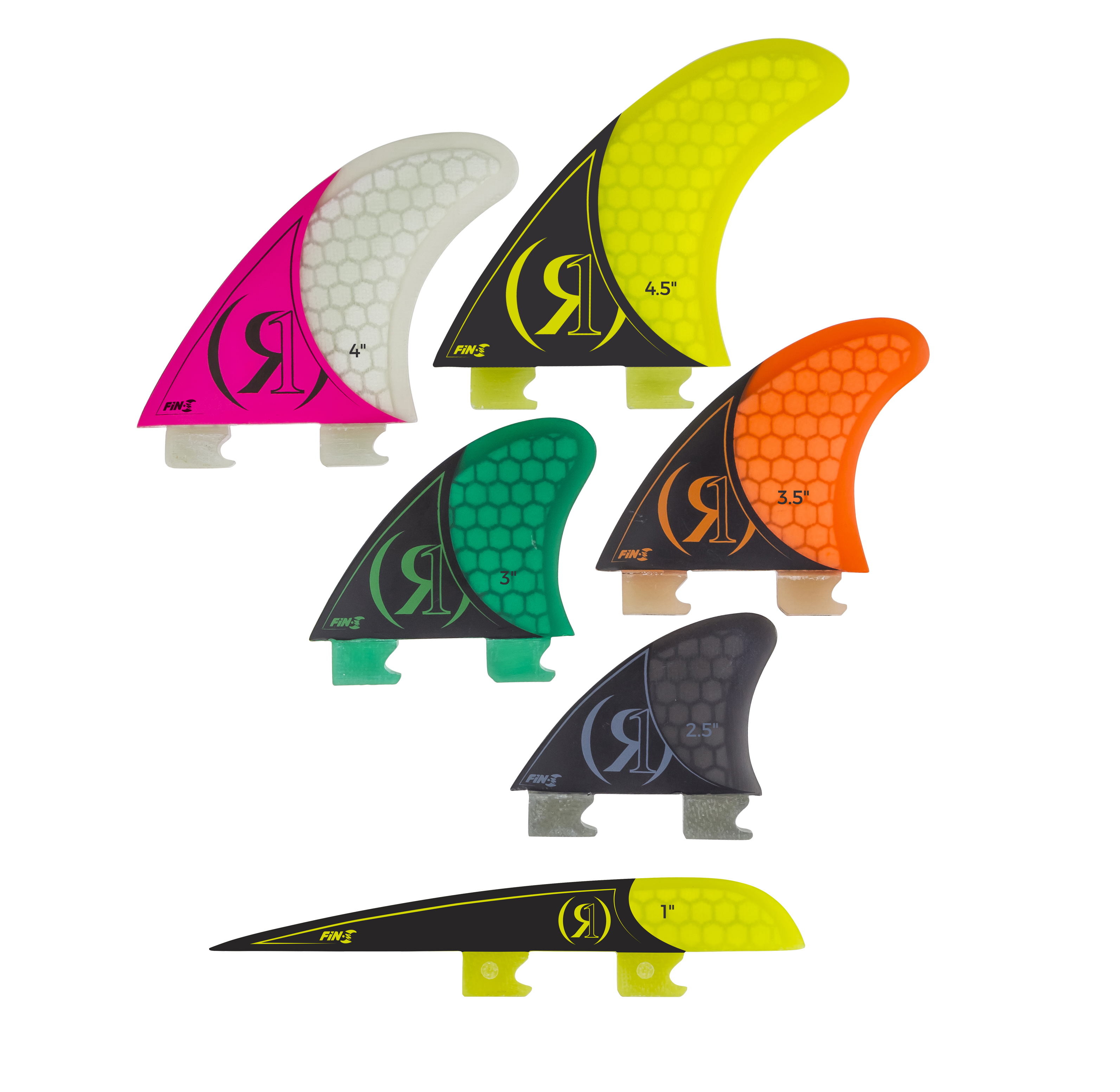 4.5'' - FIN-S 2.0 TOOL-LESS FIBERGLASS - RIGHT SURF FIN RONIX 2018