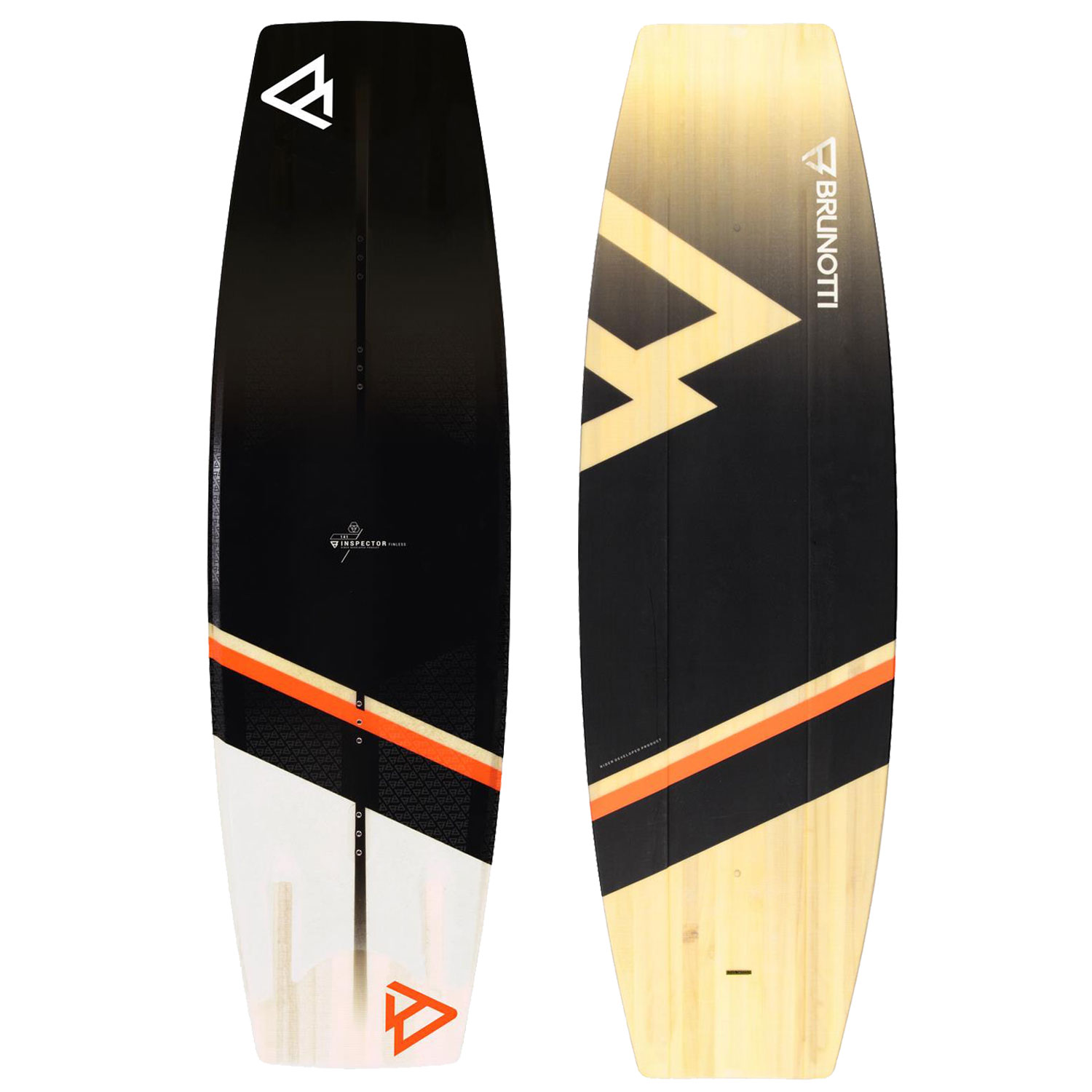 PLACA WAKEBOARD INSPECTOR FINLESS  WAKEBOARD BLACK BRUNOTTI 2018