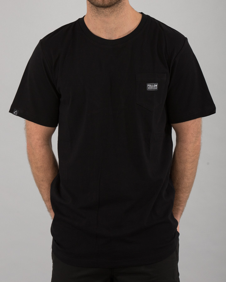 POCKET TEE BLACK FOLLOW 2018