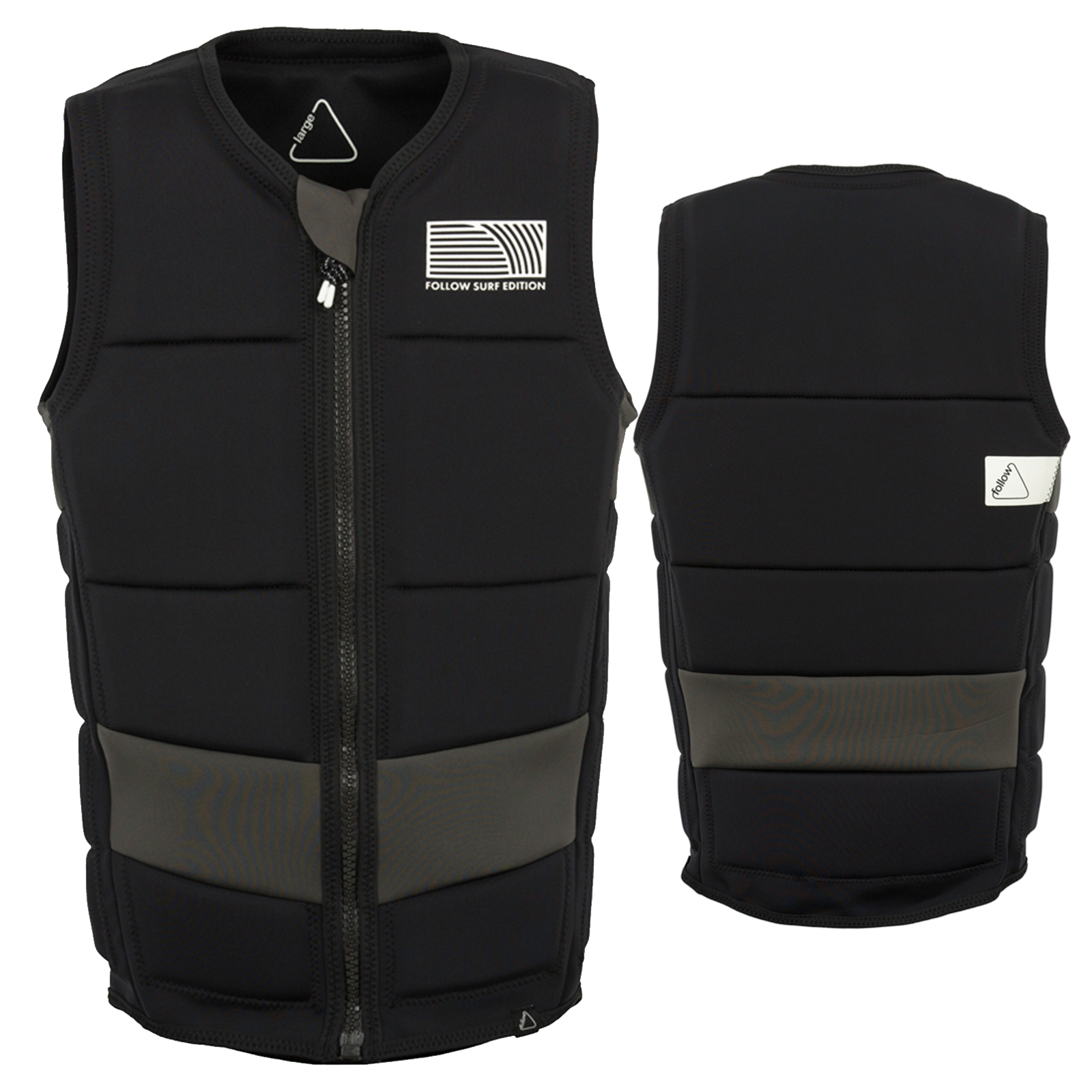 SURF EDITION PRO MEN'S IMPACT VEST BLACK FOLLOW 2018