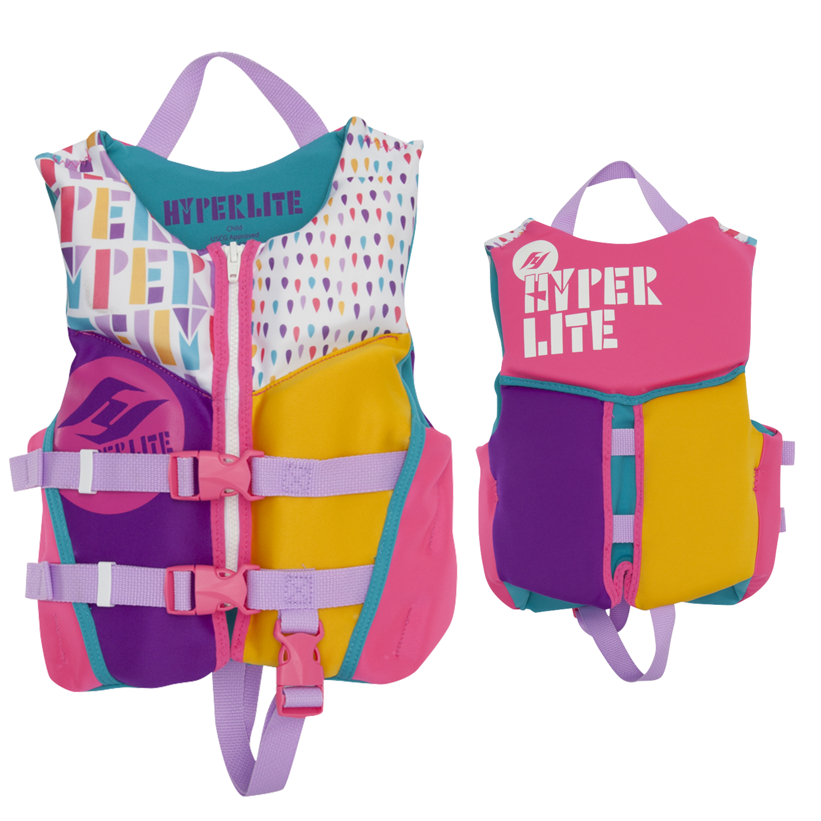 GIRL'S CHILD INDY NEO VEST 13-23KG HYPERLITE 2018