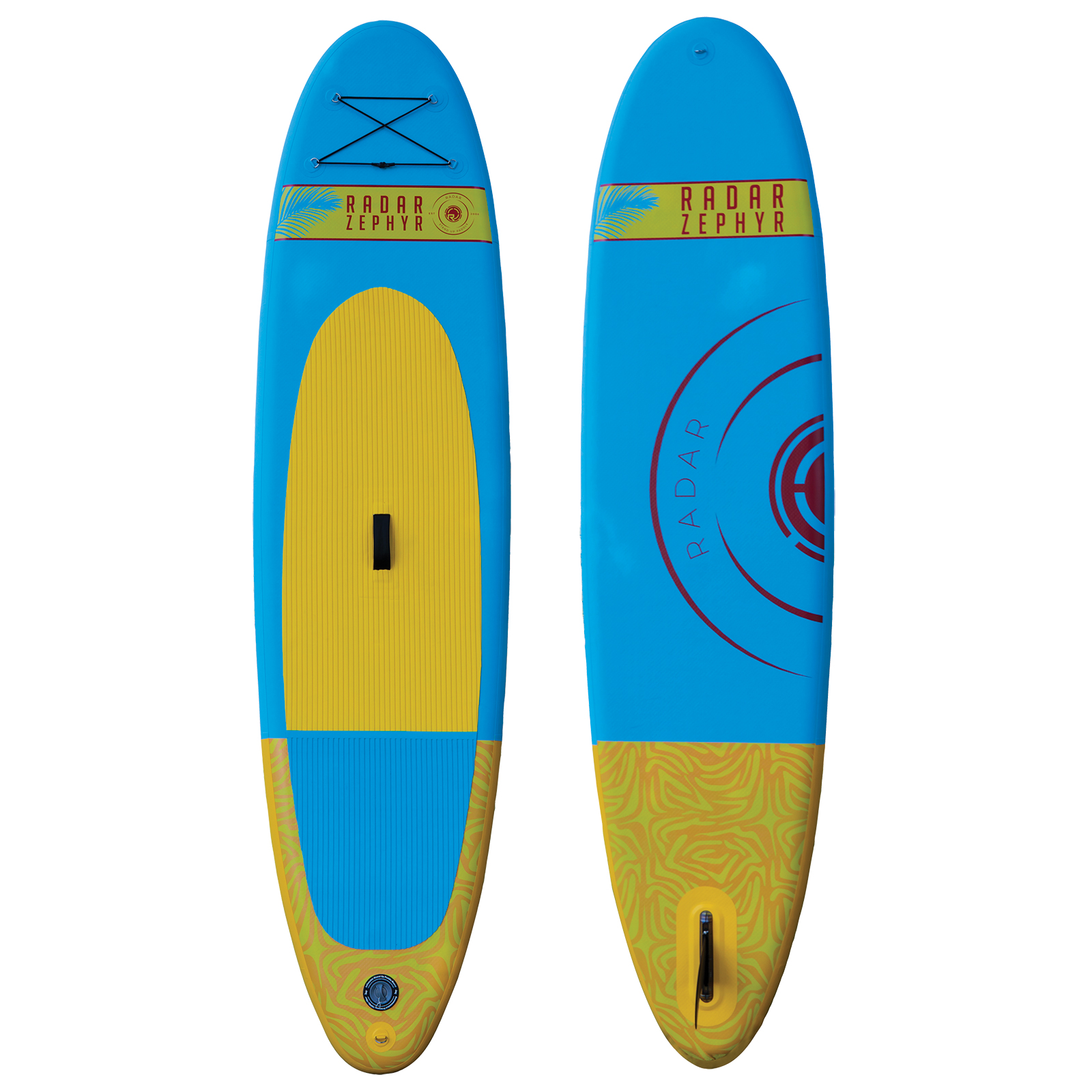 THE ZEPHYR - INFLATABLE - BLUE / YELLOW - 10'6'' W/ PUMP, PADDLE, & BAG RADAR 2018