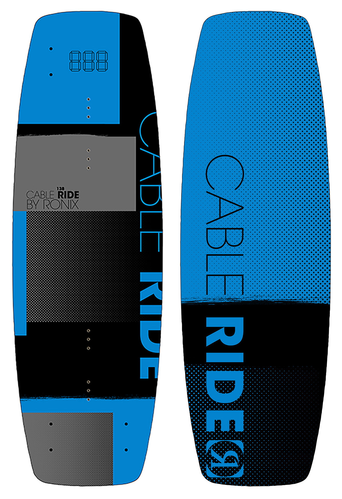 CABLE RIDE 138 WAKEBOARD - BLUE RONIX 2018
