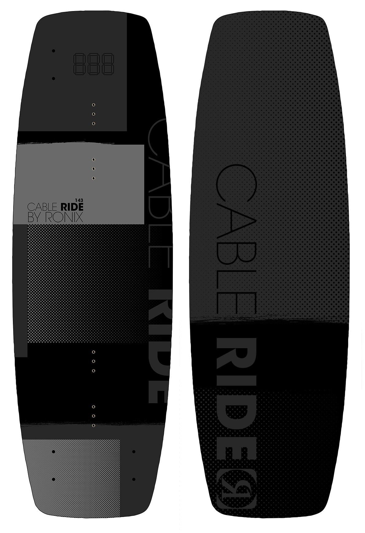 CABLE RIDE 143 WAKEBOARD - BLACK RONIX 2018
