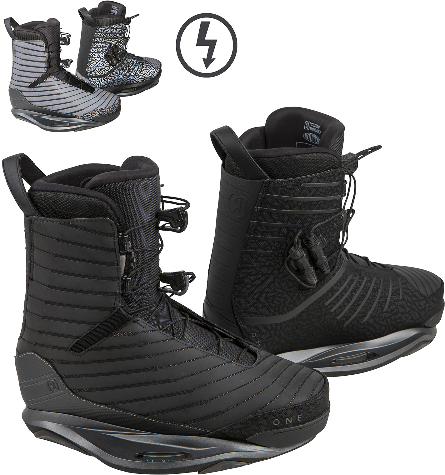 ONE FLASH BLACK BOOT RONIX 2018