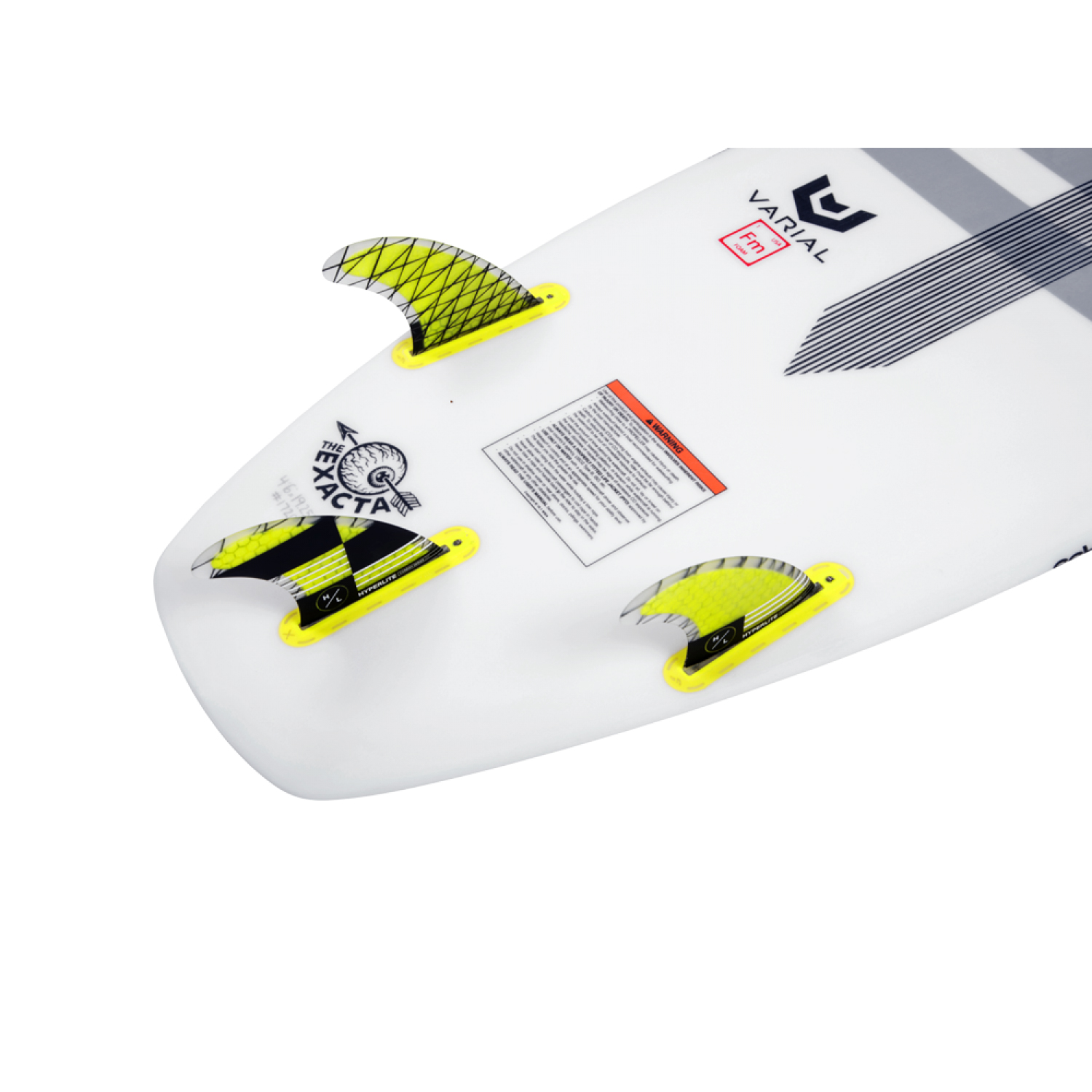 4.5'' CARBON SURF FIN SET W/ KEY HYPERLITE 2018