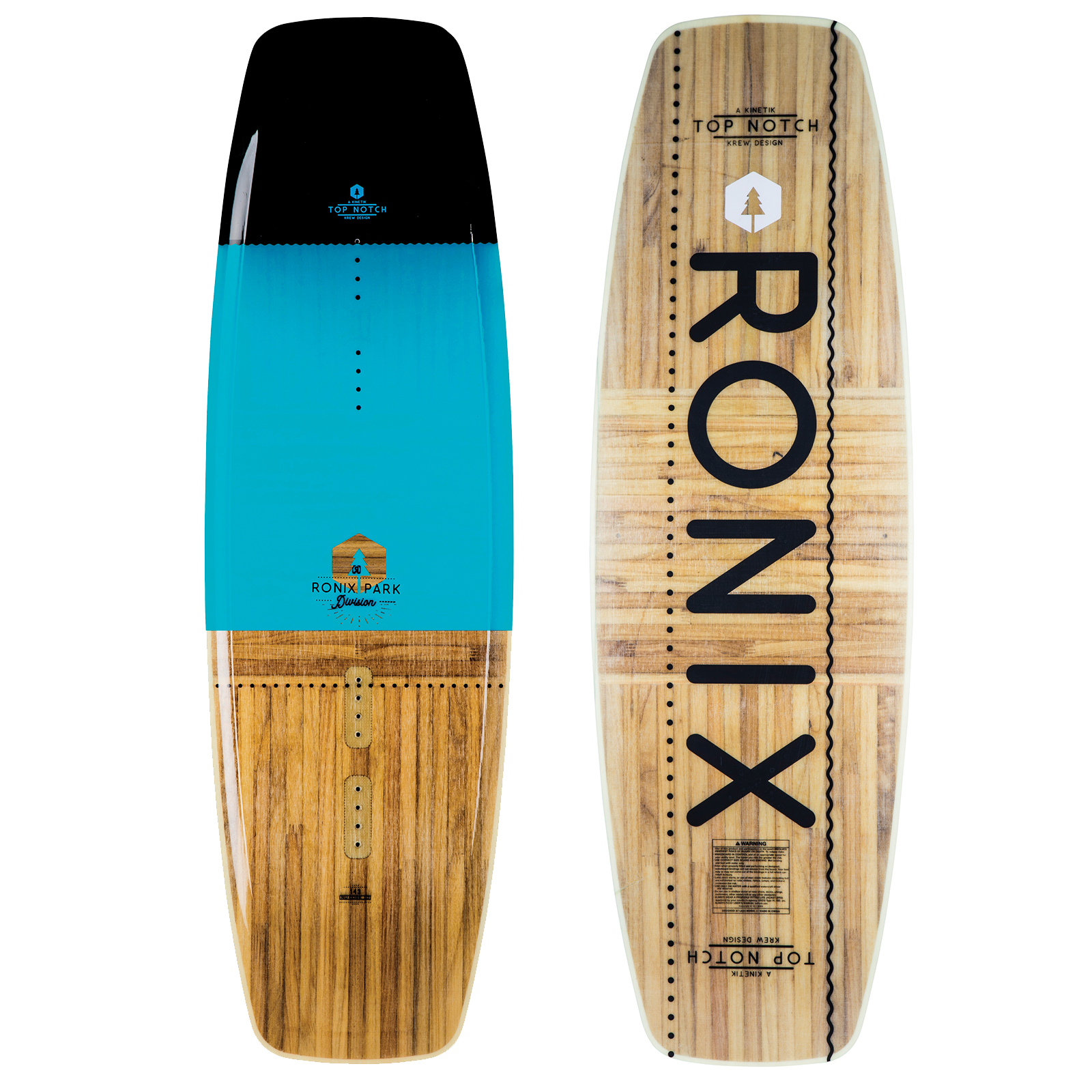 PLACA WAKEBOARD TOP NOTCH NU CORE 2.0 133 JR. LTD WAKEBOARD - BLUE RONIX 2019
