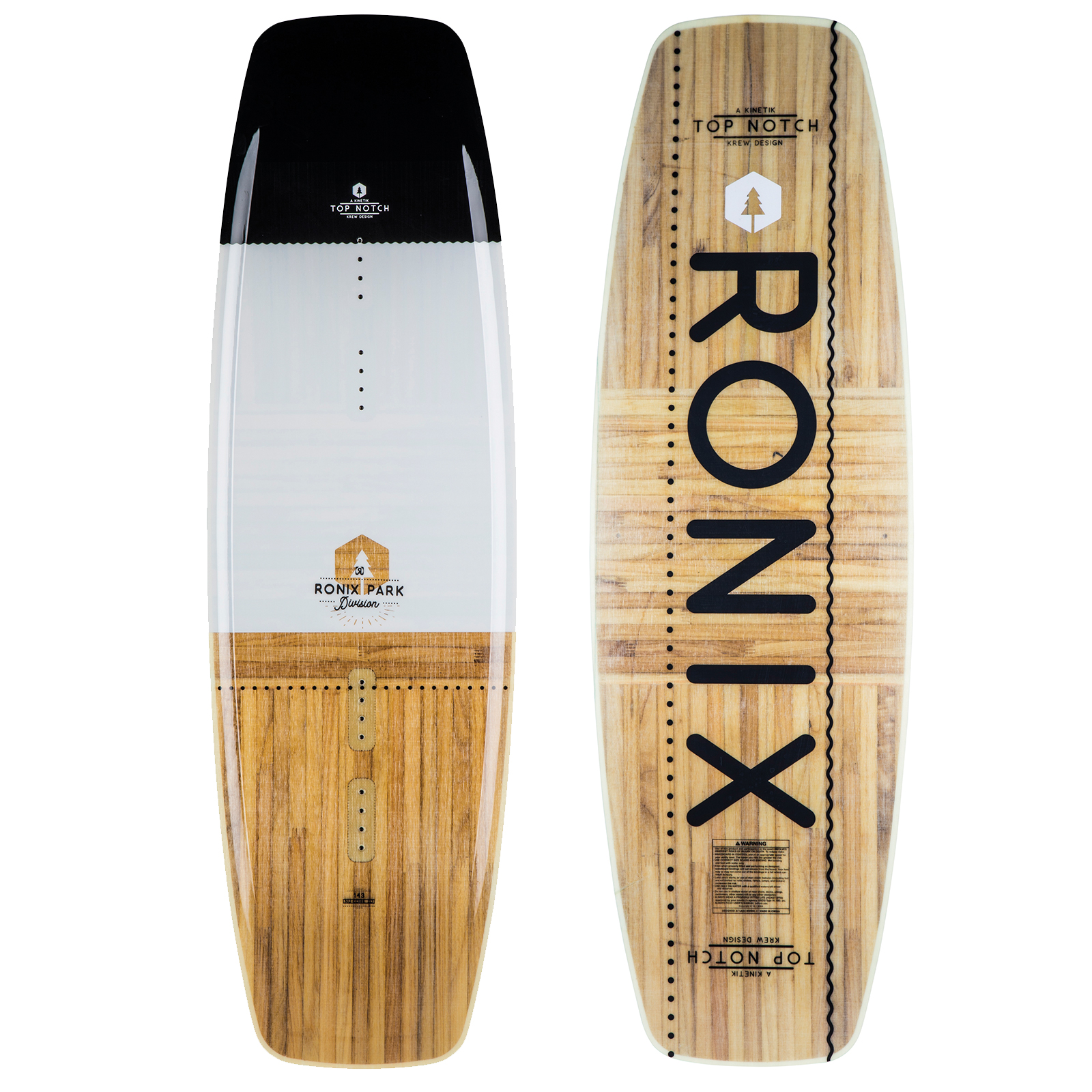 PLACA WAKEBOARD TOP NOTCH NU CORE 2.0 LTD WAKEBOARD - WHITE RONIX 2019