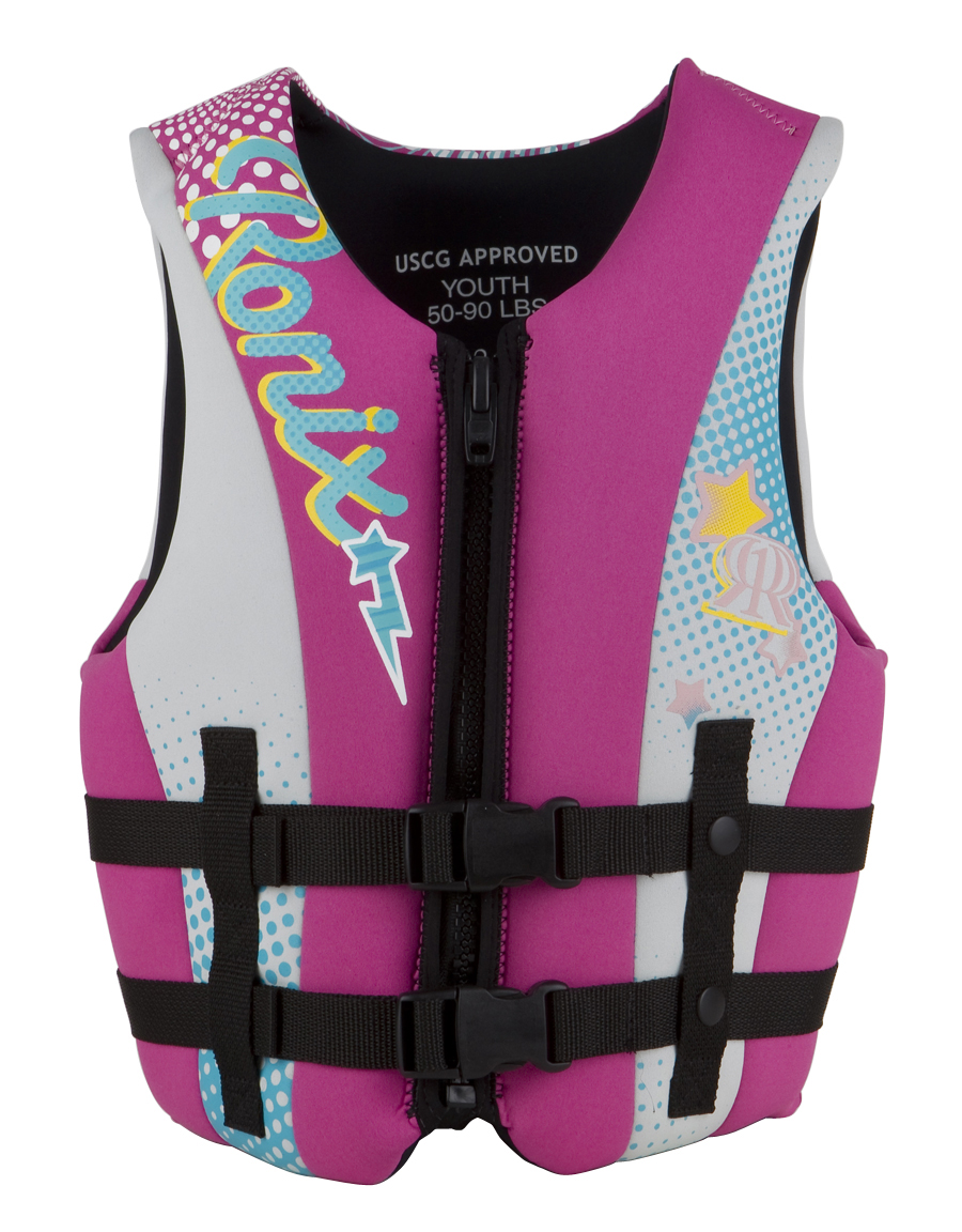 AUGUST GIRL'S FRONT ZIP CGA LIFE VEST | PINK/PURPLE RONIX 2018