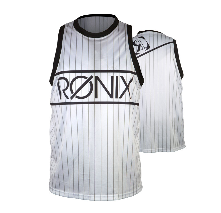 812 BACKSEAT RIDING JERSEY - TANK TOP - WHITE/ BLACK RONIX 2018