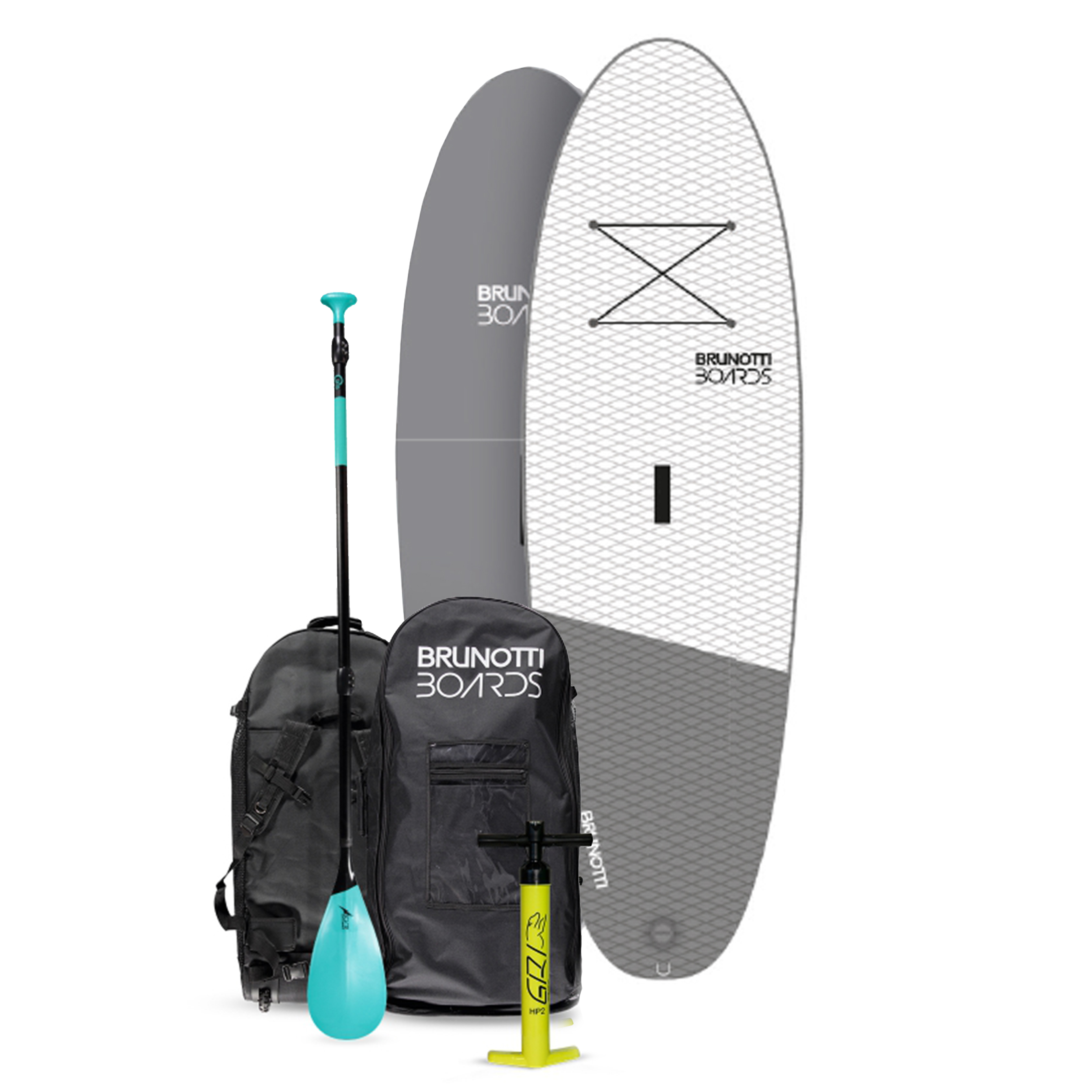 BIG BASTARD 10'6 ISUP BOARD PACKAGE W/PADDLE / WHITE BRUNOTTI 2017