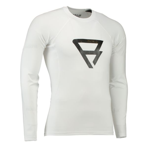 DEFENCE RASHGUARD L/S MEN WHITE BRUNOTTI 2017