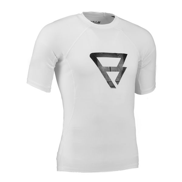 DEFENCE RASHGUARD S/S MEN WHITE BRUNOTTI 2017
