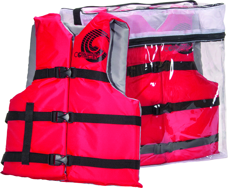 ADJUSTABLE NYLON CGA LIFE VEST - 4 PACK CONNELLY 2018