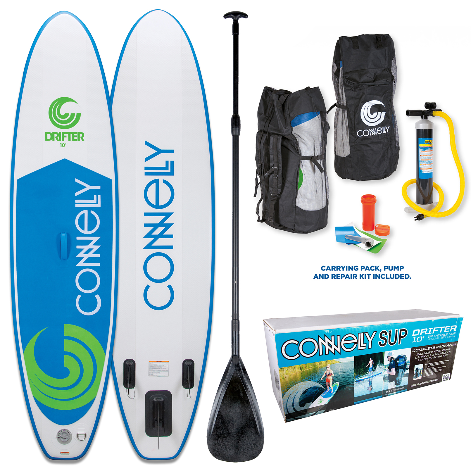 2017 DRIFTER INFLATABLE STAND-UP PADDLE BOARD - PACKAGE CONNELLY 2016