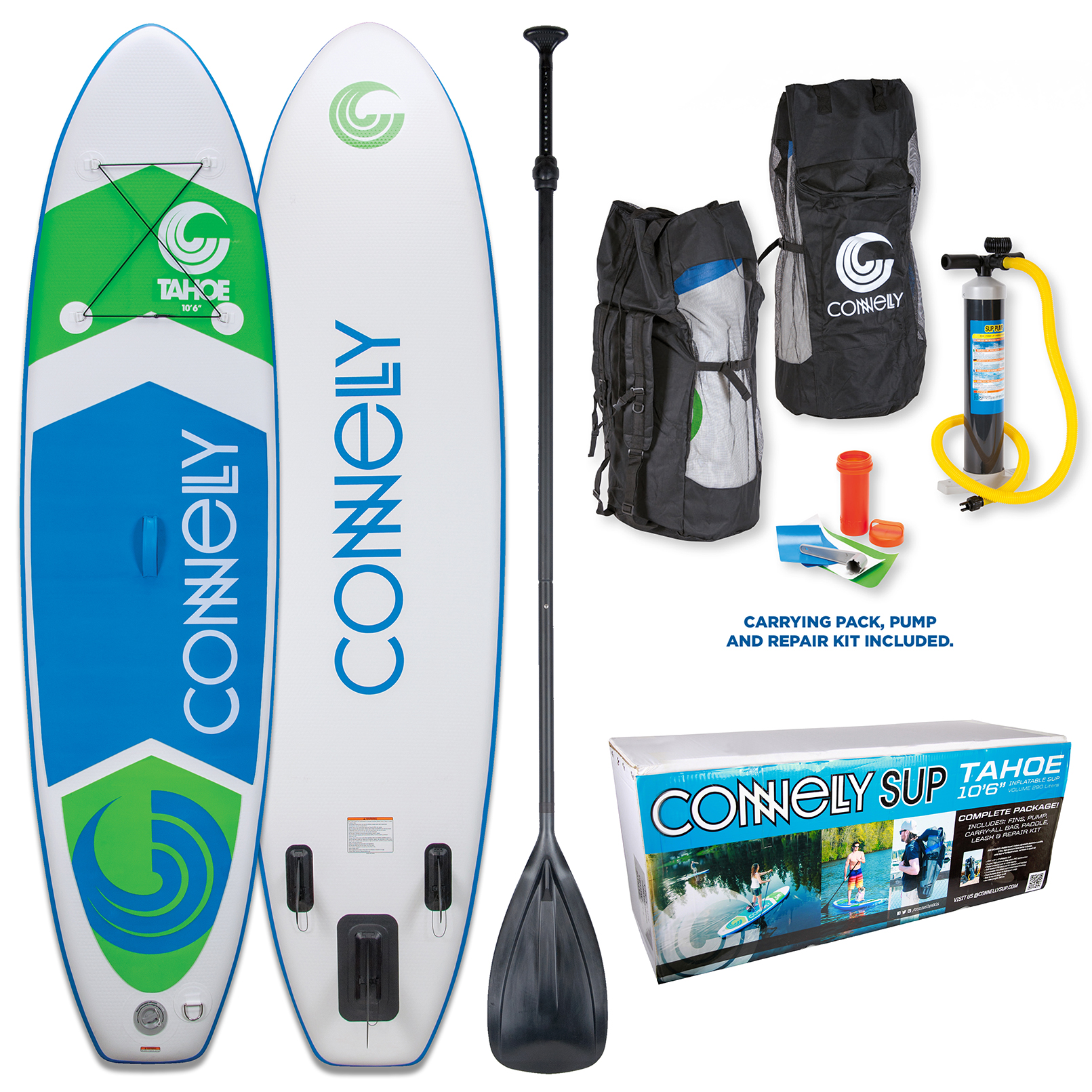 2017 TAHOE INFLATABLE STAND-UP PADDLE BOARD - PACKAGE CONNELLY
