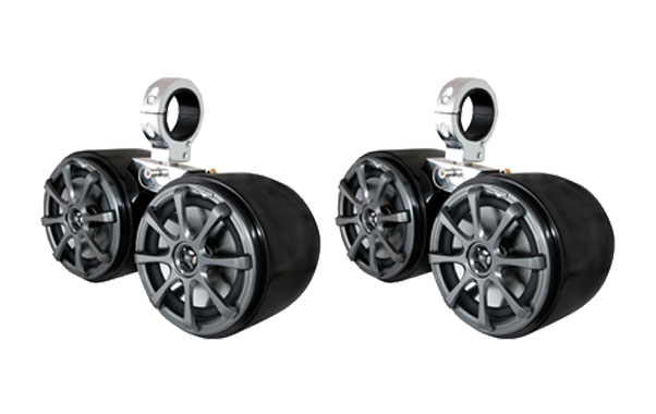 KICKER KM6500.2 DOUBLE BARREL BLACK SPEAKER - ONE PAIR - 2.5'' MONSTER TOWER 2017