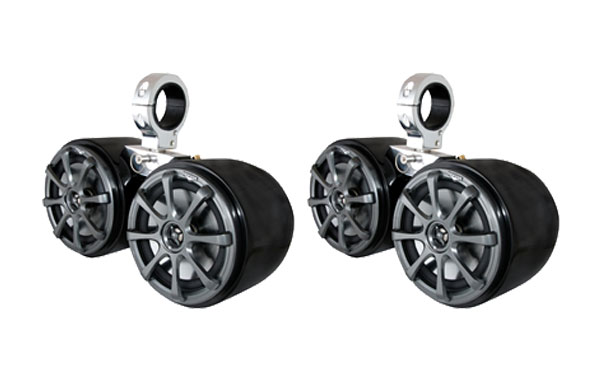 KICKER DOUBLE BARREL BLACK SPEAKER - ONE PAIR - 2.5 MONSTER TOWER 2018