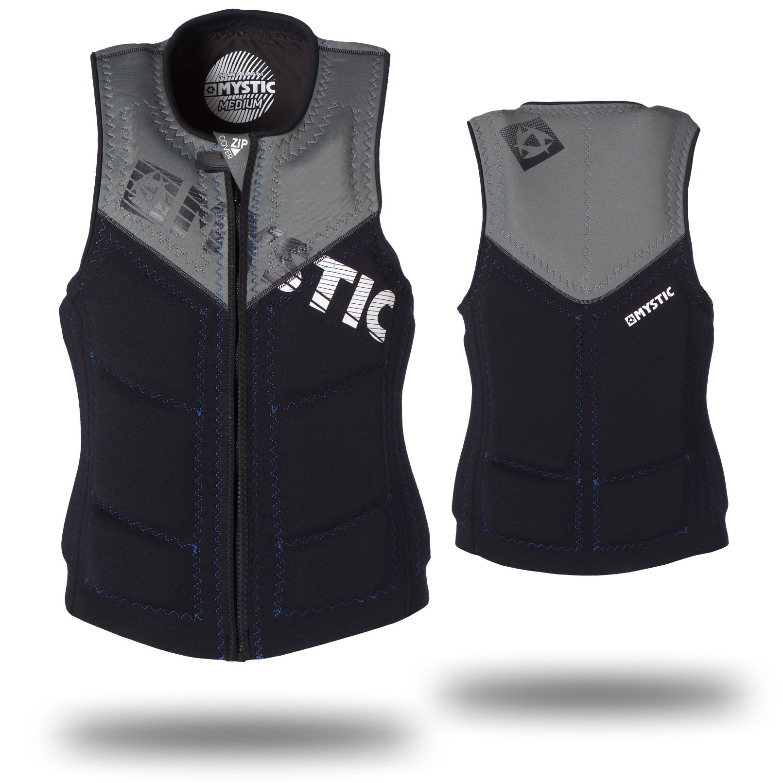 STAR WAKEBOARD VEST ZIP - BLACK MYSTIC 2016
