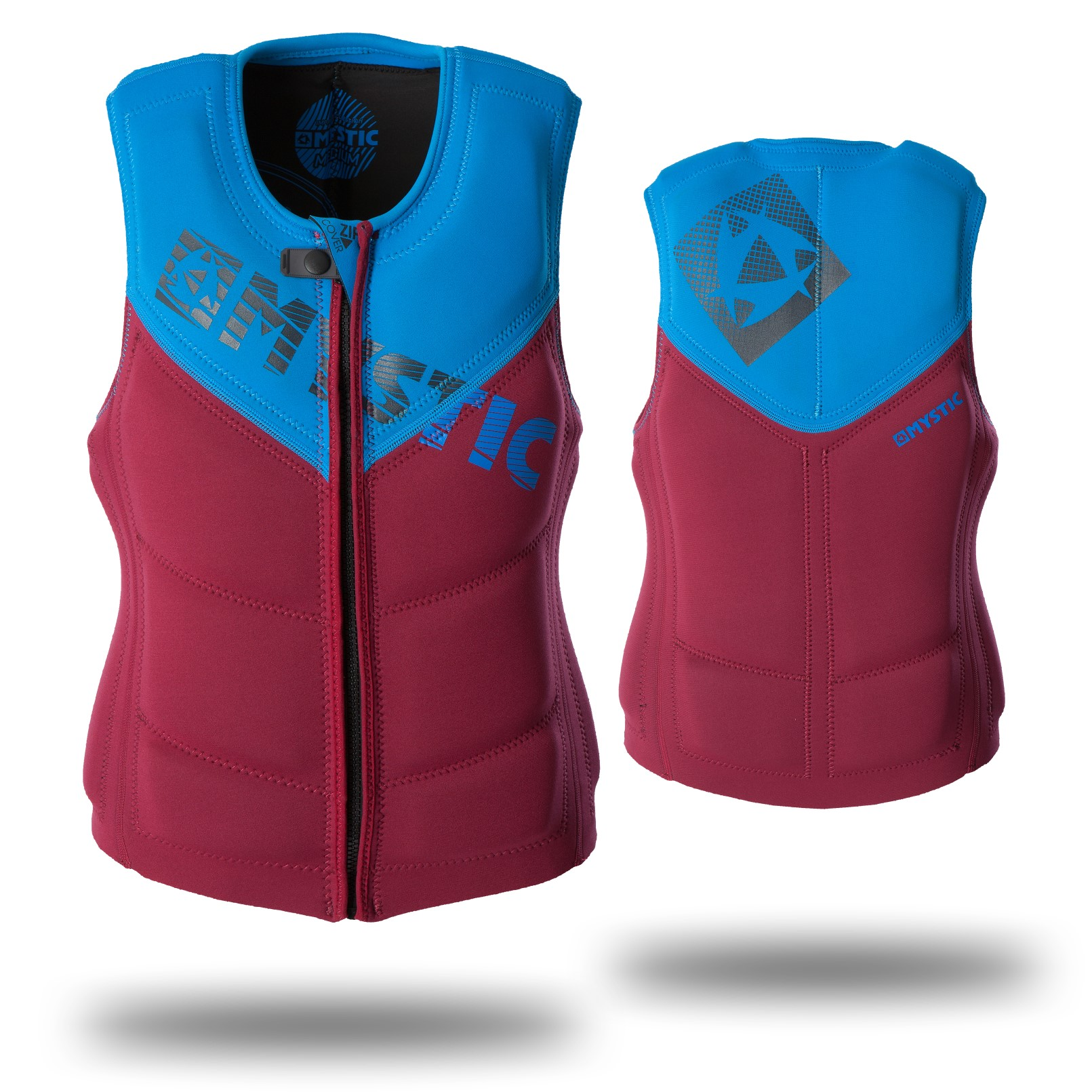 STAR WAKEBOARD VEST ZIP - BORDEAUX MYSTIC 2016