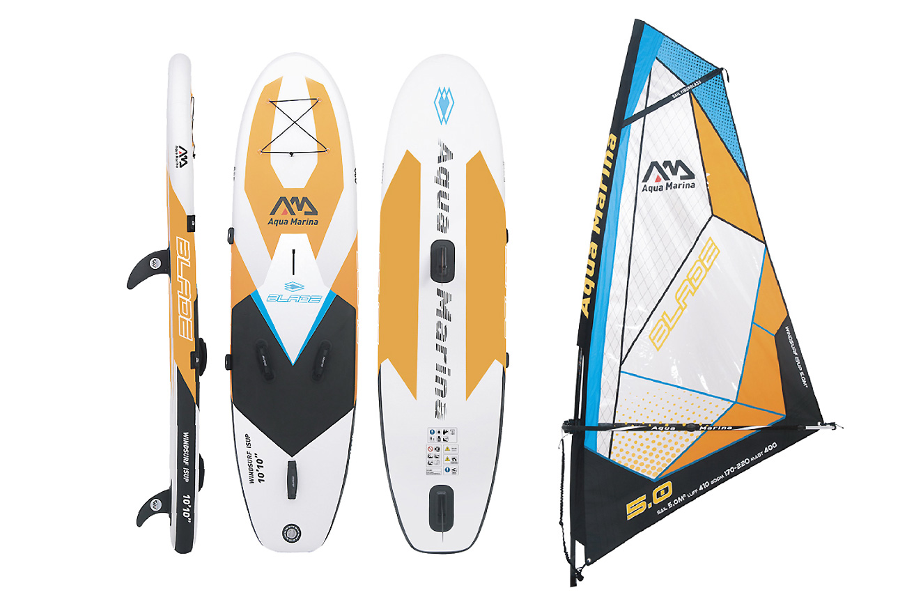 BLADE 10'10 ISUP BOARD W/SAIL RIG INCLUDED NO PADDLE AQUA MARINA 2018