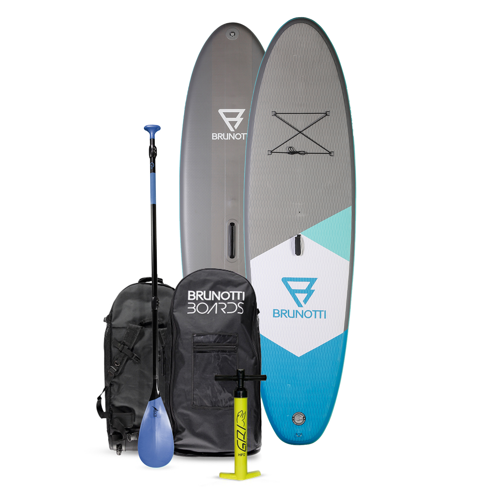 BIG BASTARD 10'6 ISUP BOARD PACKAGE W/PADDLE / BLUE BRUNOTTI 2017