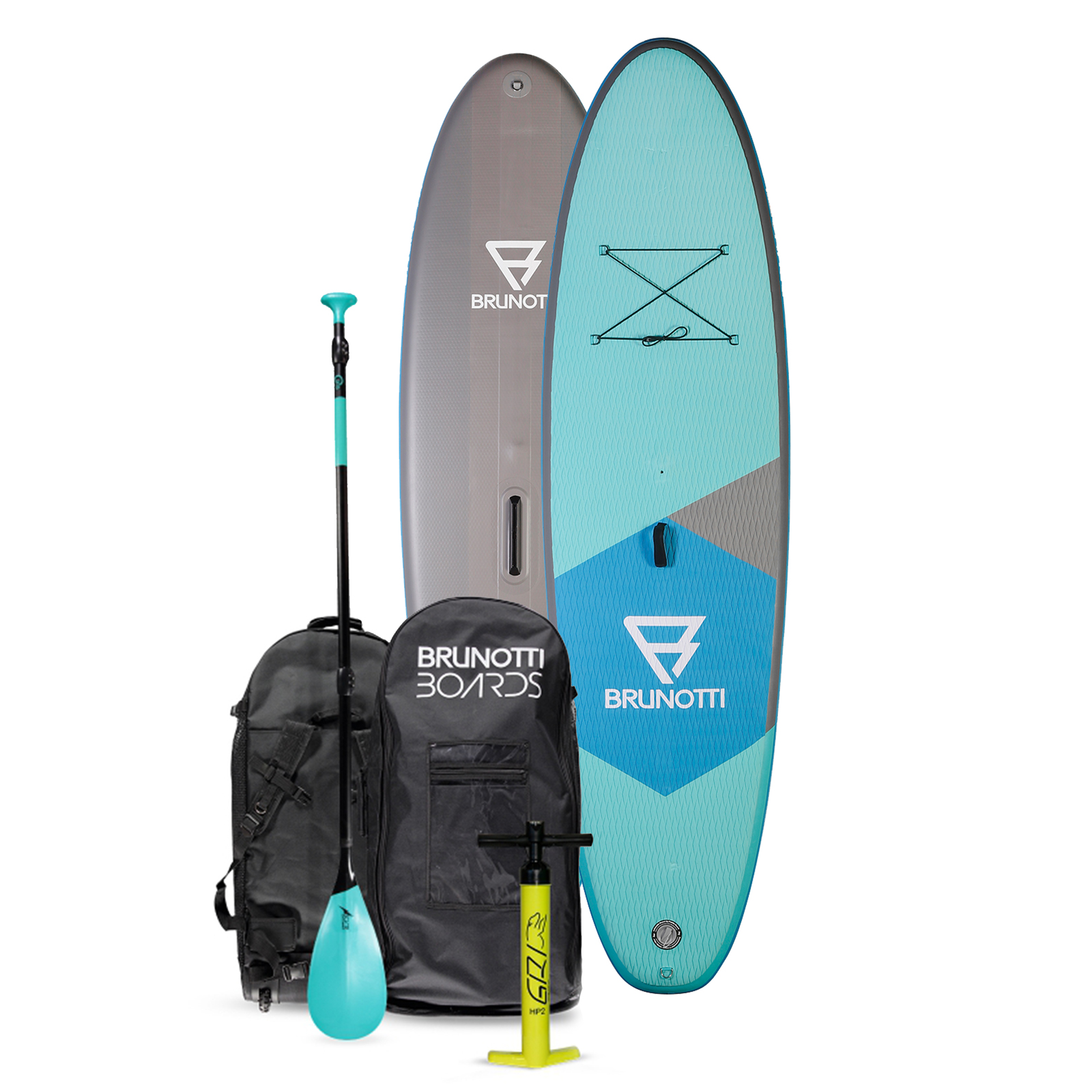 BIG BASTARD 10'6 ISUP BOARD PACKAGE W/PADDLE / GREEN BRUNOTTI 2017