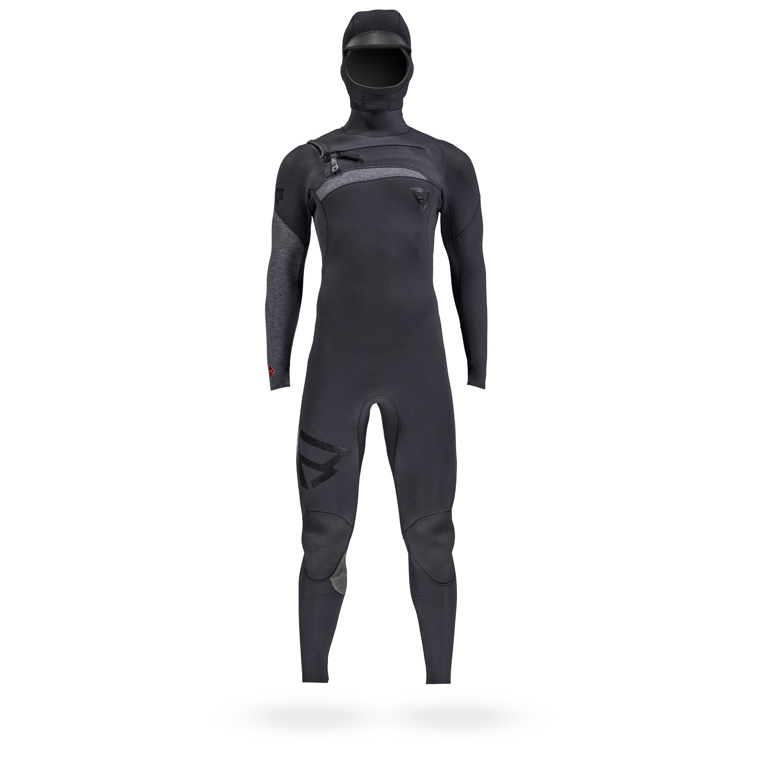 BRAVO 6/4 HOODED FZ FULLSUIT | BLACK BRUNOTTI 2018
