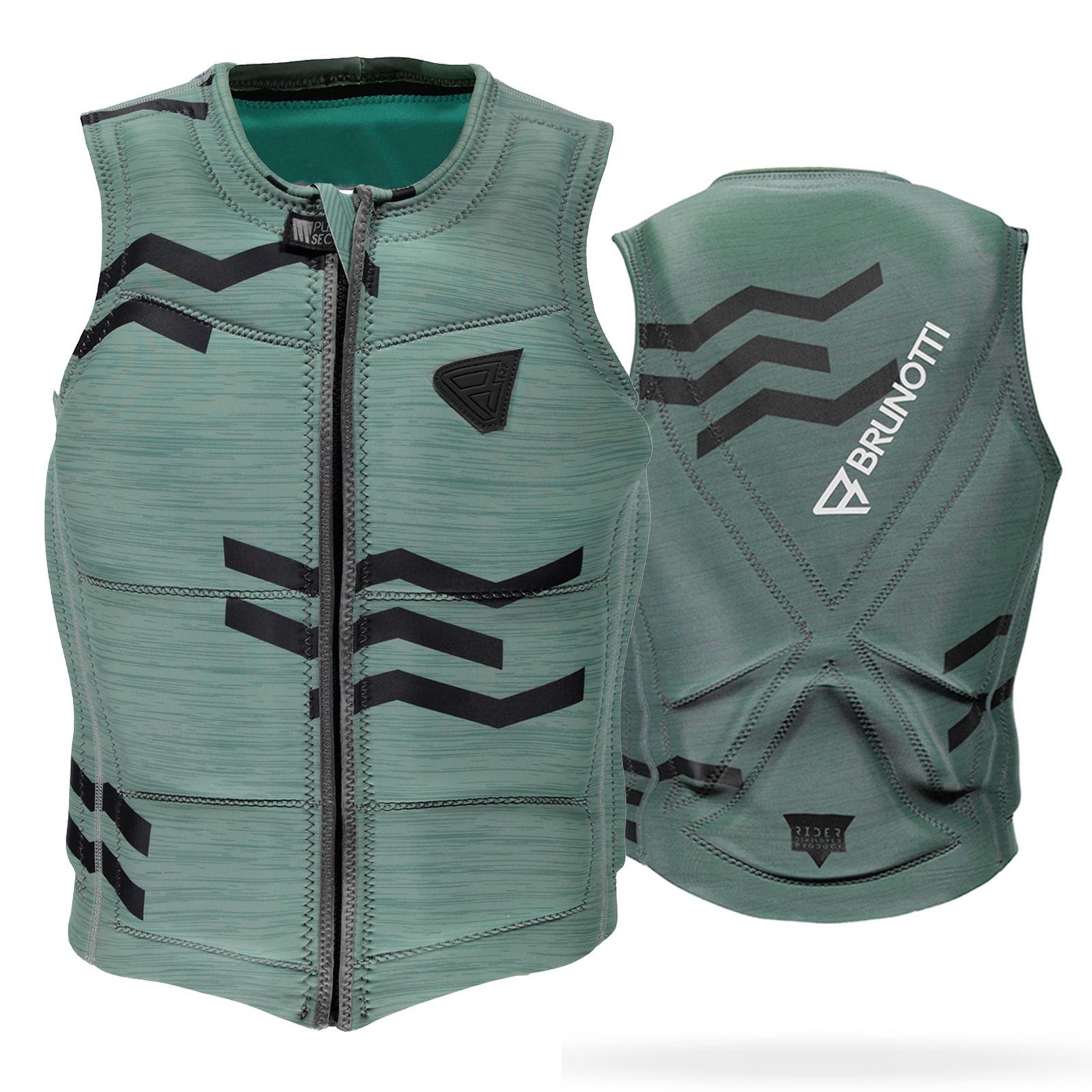 ZIGZAG WAKEVEST FZ MEN TECHNICAL VEST | GRANITE GREEN BRUNOTTI 2017