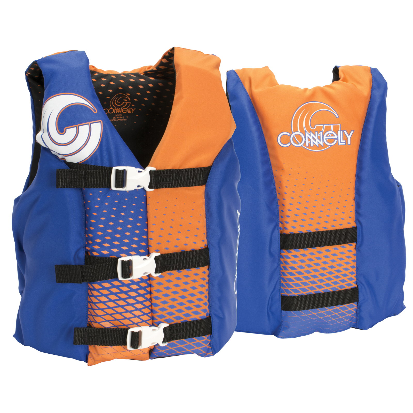 3-BELT BOY'S NYLON LIFE VEST - YOUTH 22-40KG CONNELLY 2019