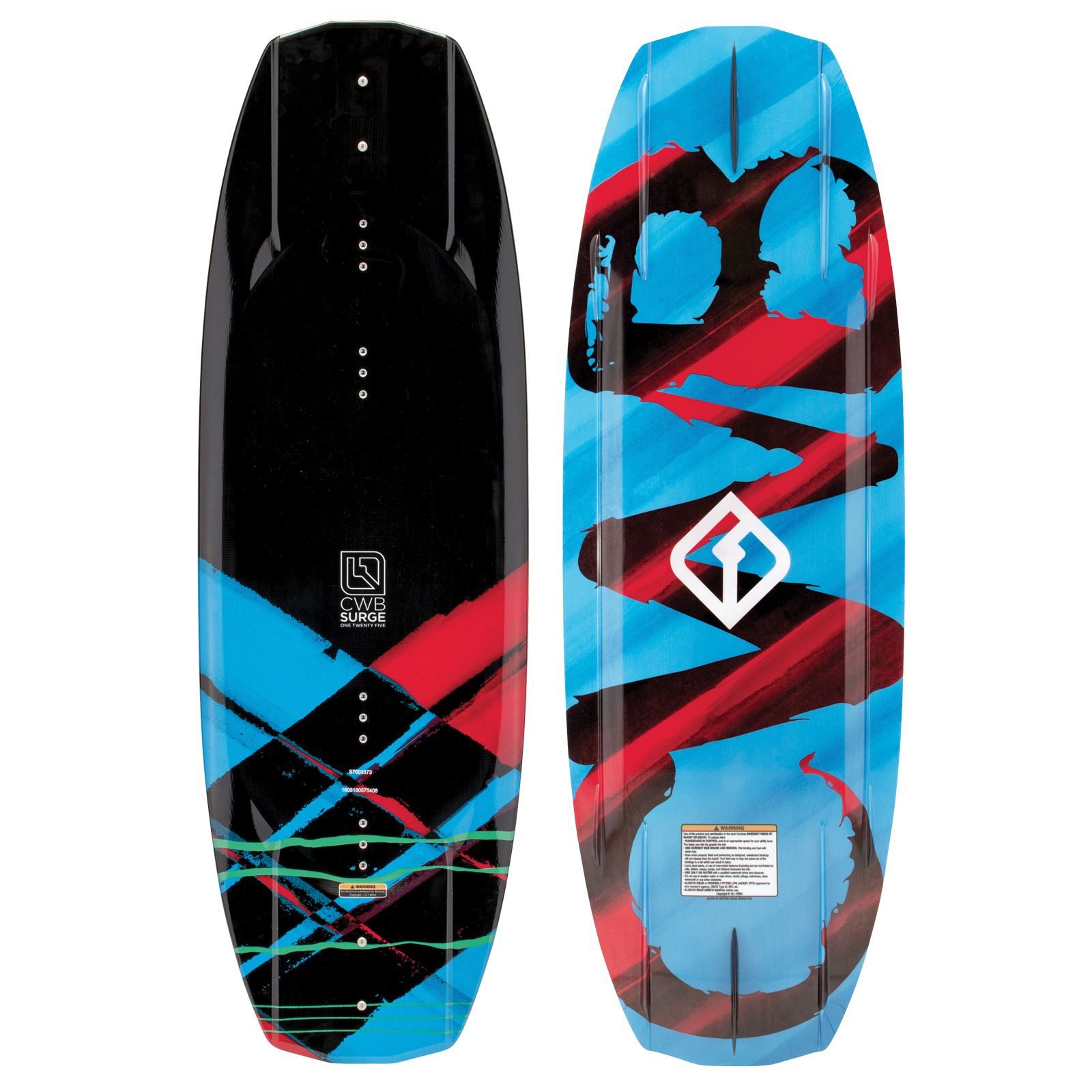 PLACA WAKEBOARD SURGE 125 JR. WAKEBOARD CWB 2017