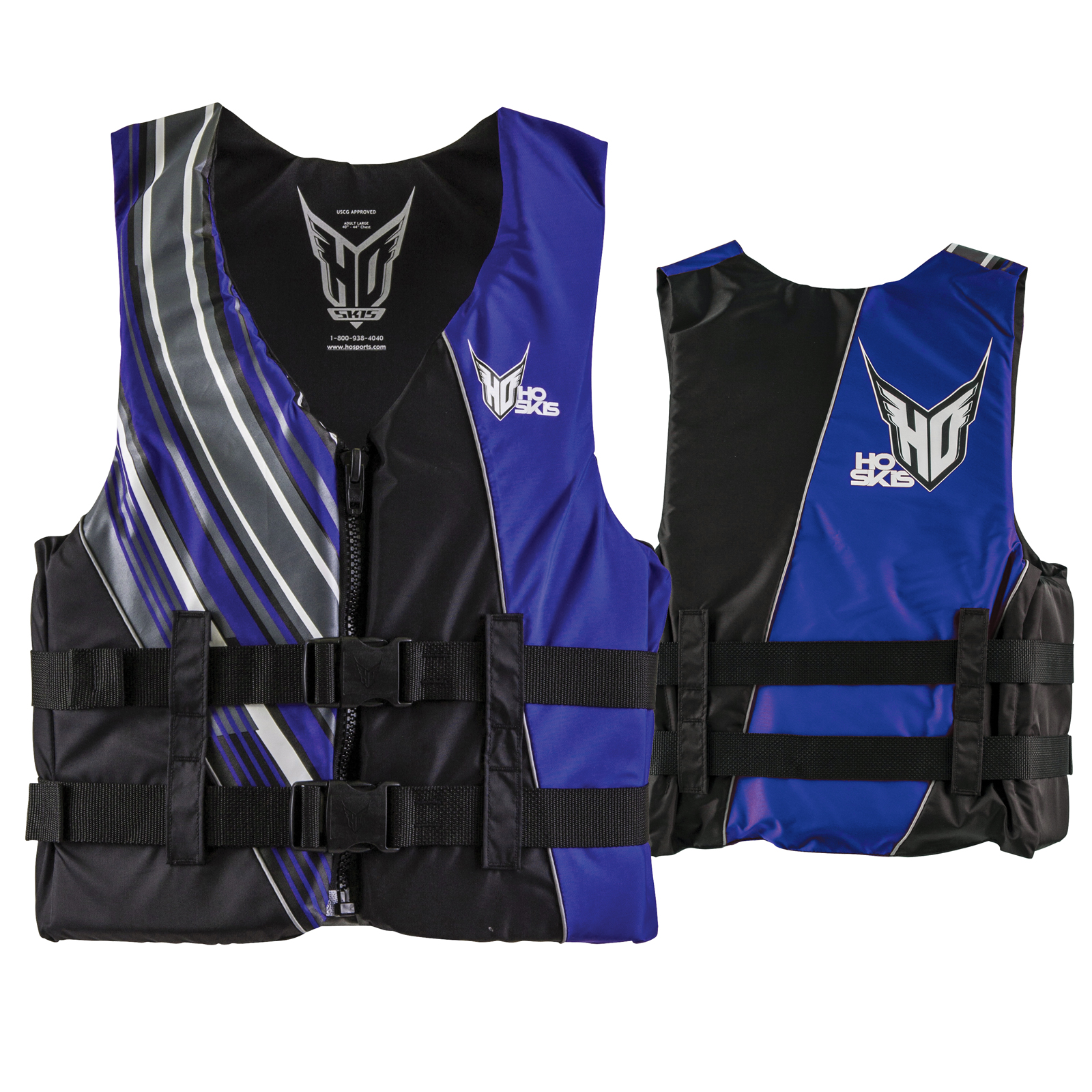 MENS INFINITE VEST TALL BLACK/BLUE HO SPORTS 2017