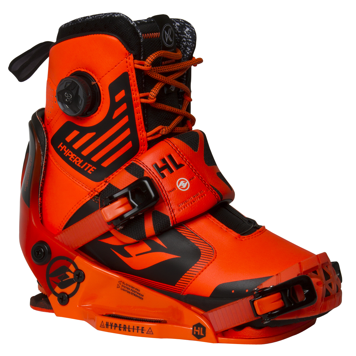 KRUZ SYSTEM BOOT W/THE SYSTEM BINDING PRO ORANGE HYPERLITE 2017