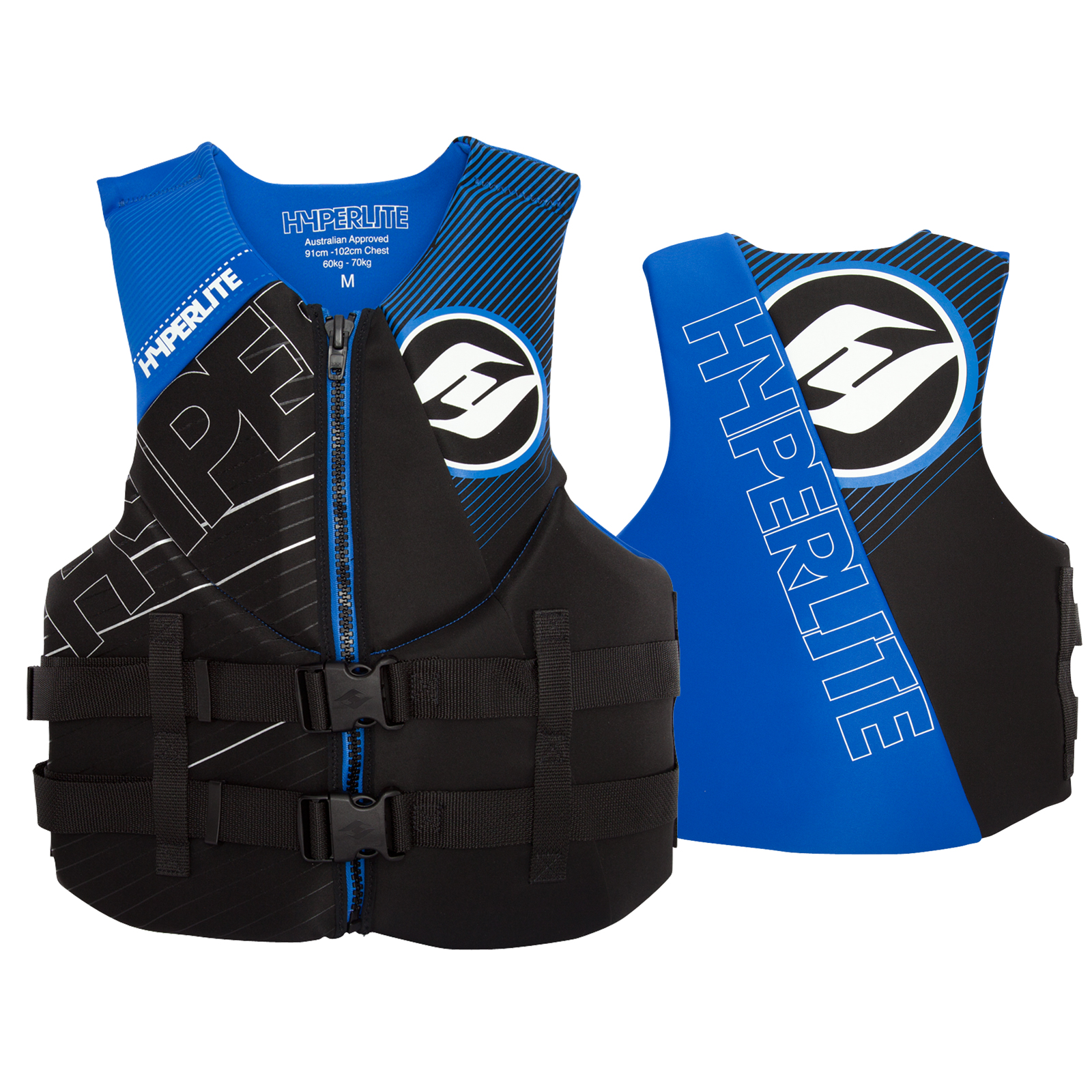 MENS INDY NEO VEST - BLACK/BLUE HYPERLITE 2017