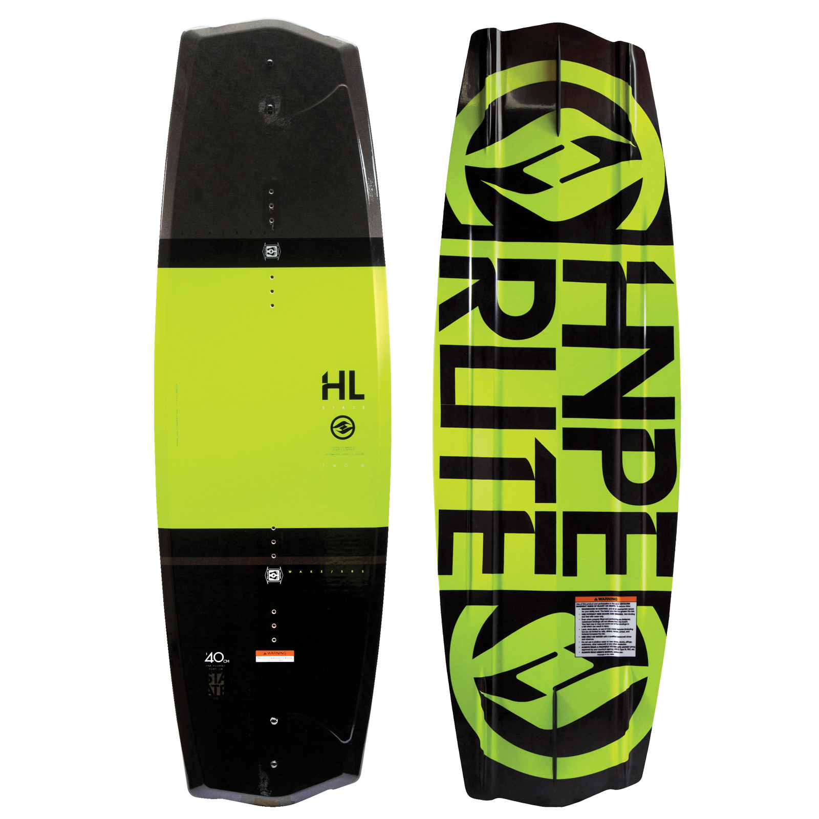 STATE 2.0 YELLOW WAKEBOARD HYPERLITE 2017
