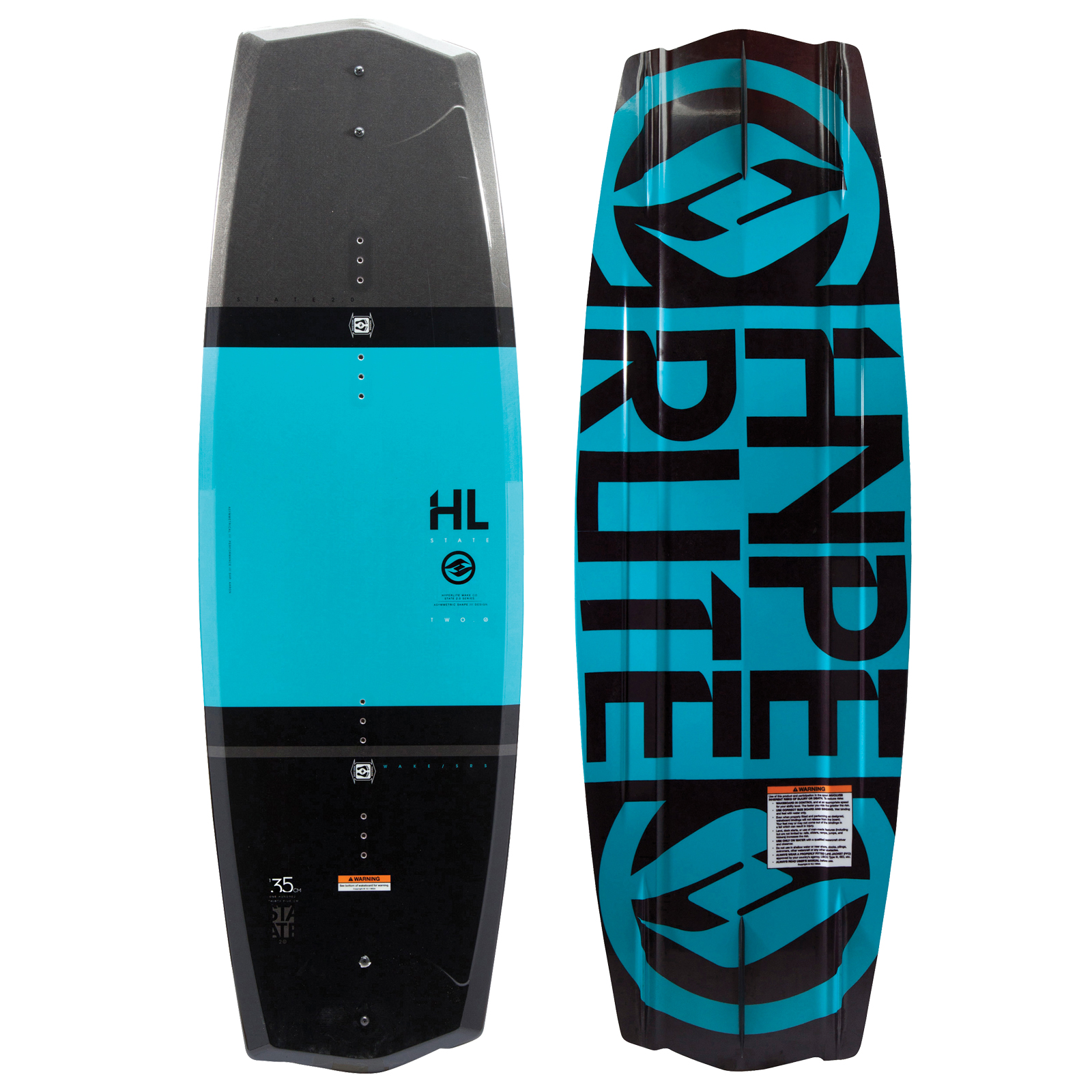 STATE 2.0 BLACK 135 WAKEBOARD - SHOWROOM MODEL HYPERLITE 2017