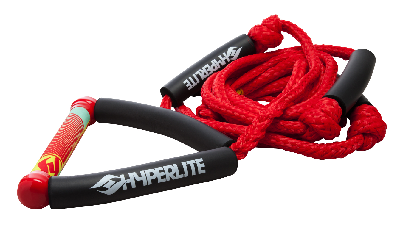 20 FT SURF ROPE W/HANDLE RED HYPERLITE 2017