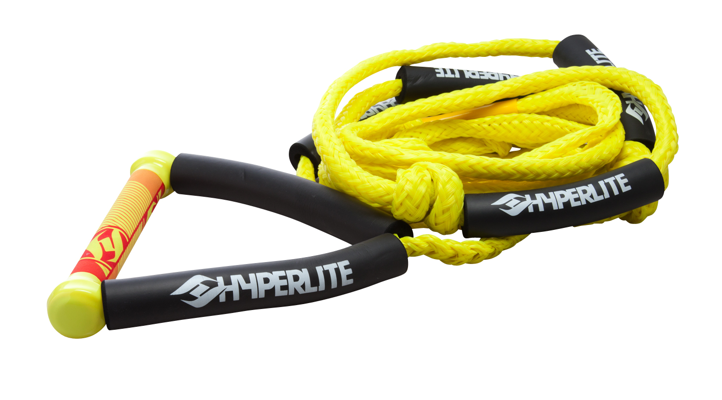 20 FT SURF ROPE W/HANDLE YELLOW HYPERLITE 2017