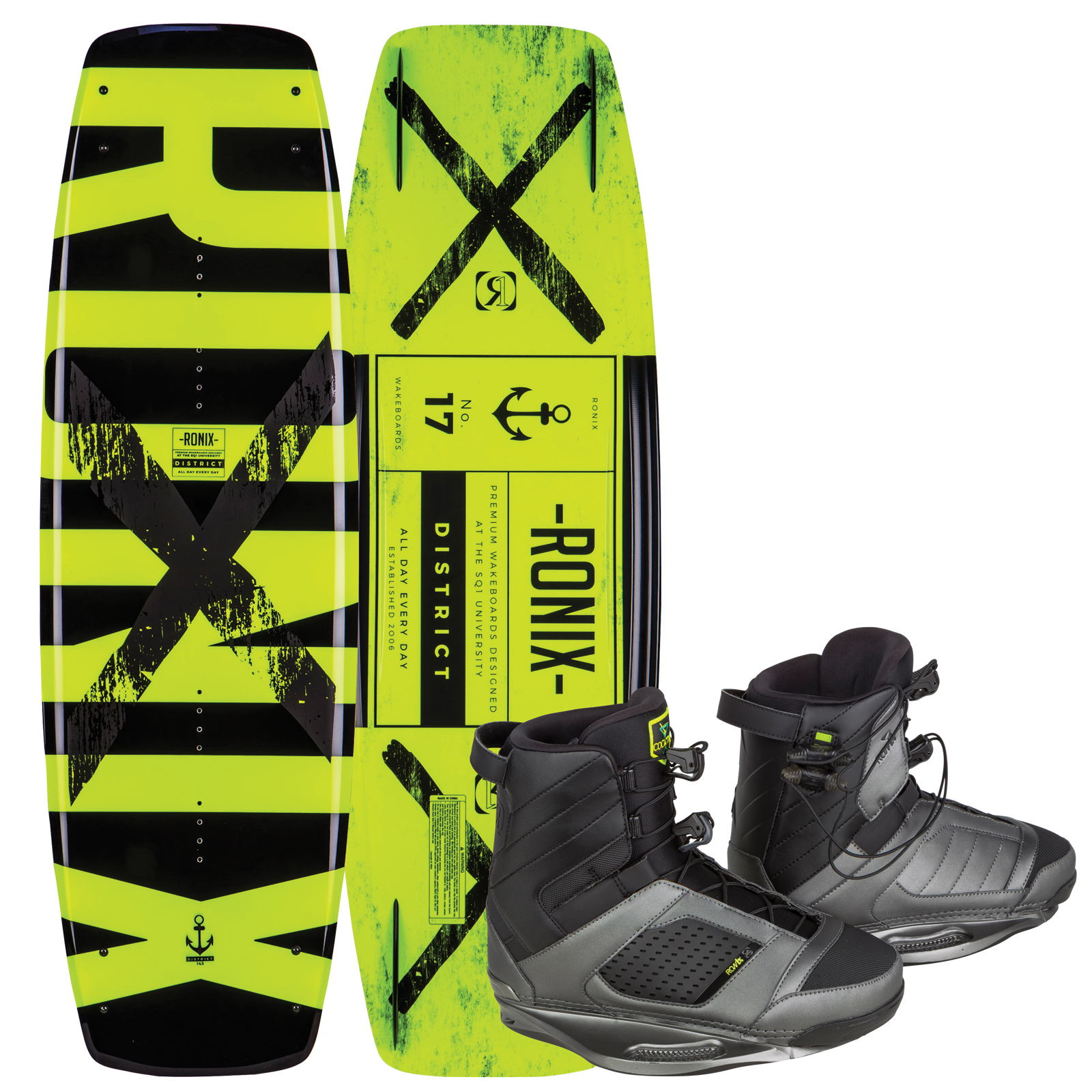DISTRICT 134W/ COCKTAIL PACKAGE RONIX 2017
