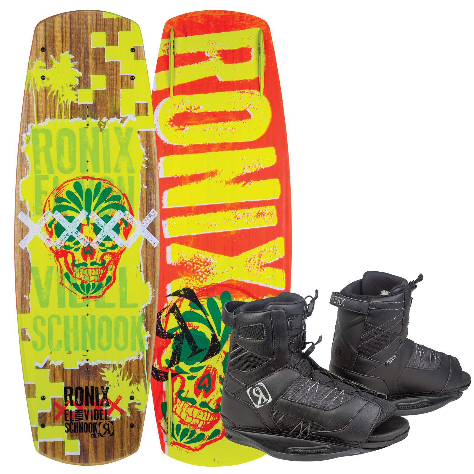 EL VON VIDEL SCHNOOK 126.2 W/ DIVIDE EU 37-41.5/US 5-8.5 PACKAGE RONIX 2017