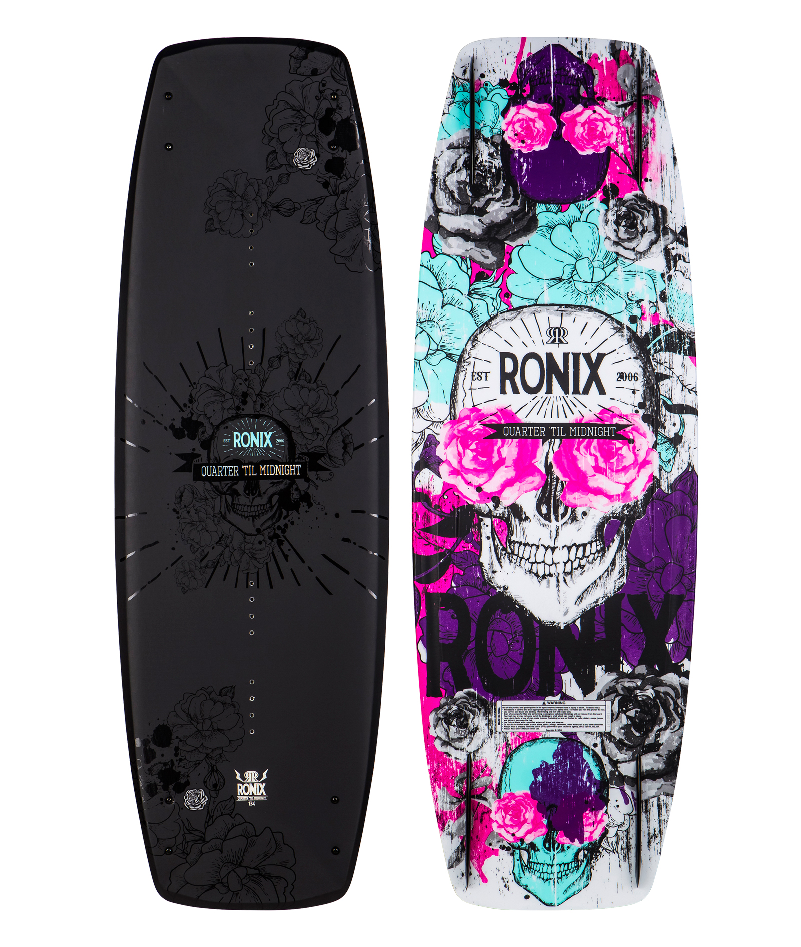 QUARTER 'TIL MIDNIGHT ''SF'' 134 WAKEBOARD RONIX 2017
