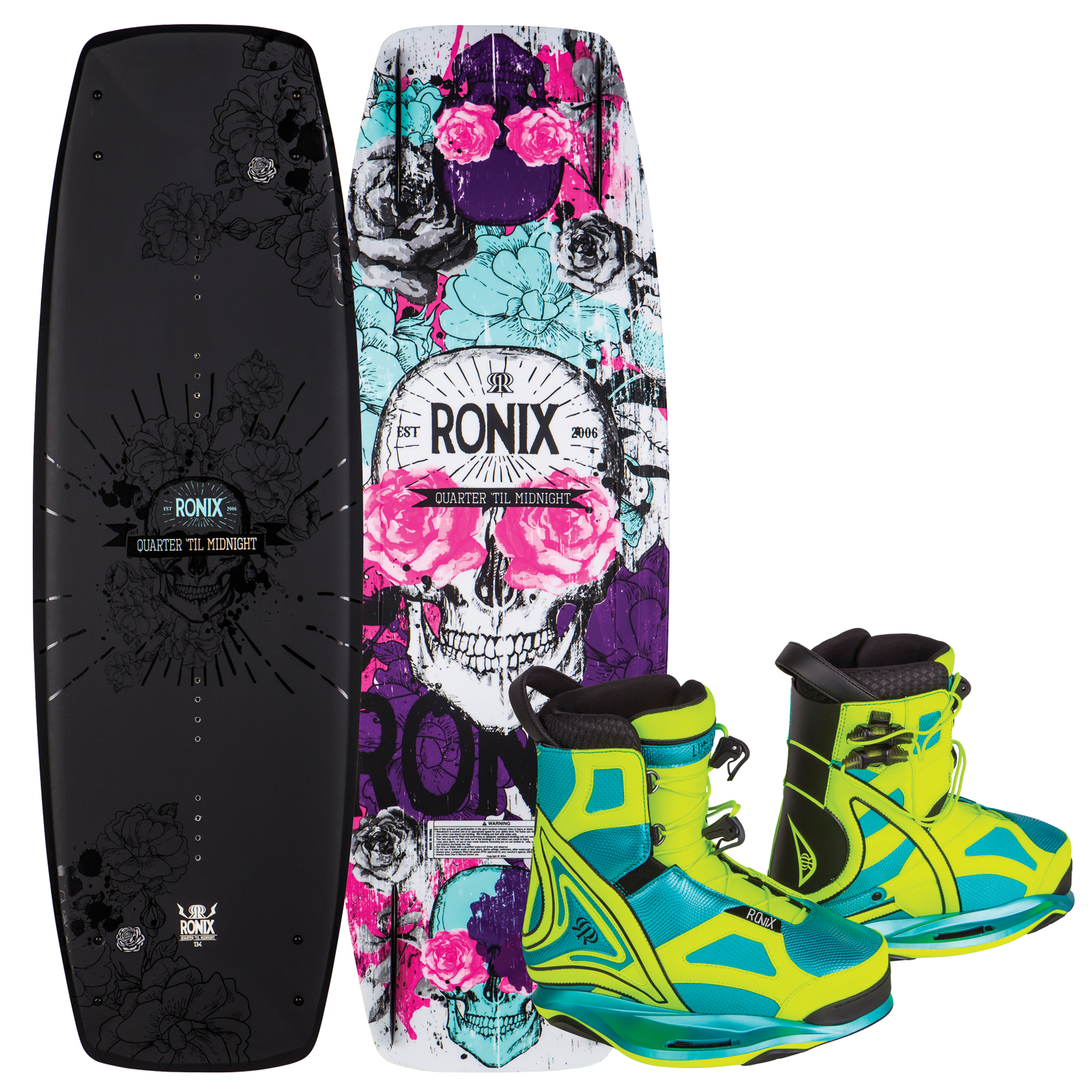 QUARTER 'TIL MIDNIGHT 134 W/ LIMELIGHT PACKAGE RONIX 2017