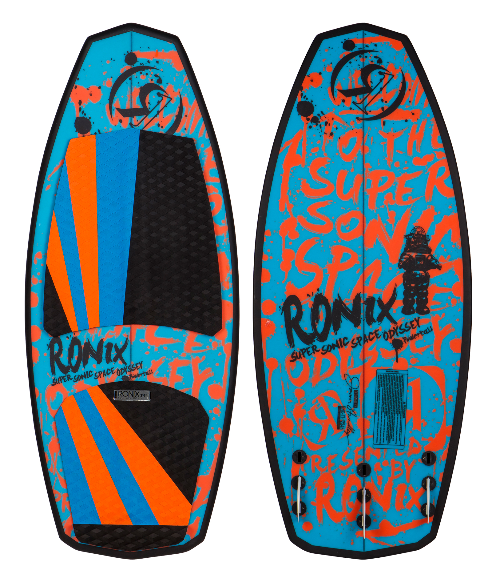 SUPER SONIC SPACE ODYSSEY POWERTAIL 3'9'' JR. WAKESURFER RONIX 2017