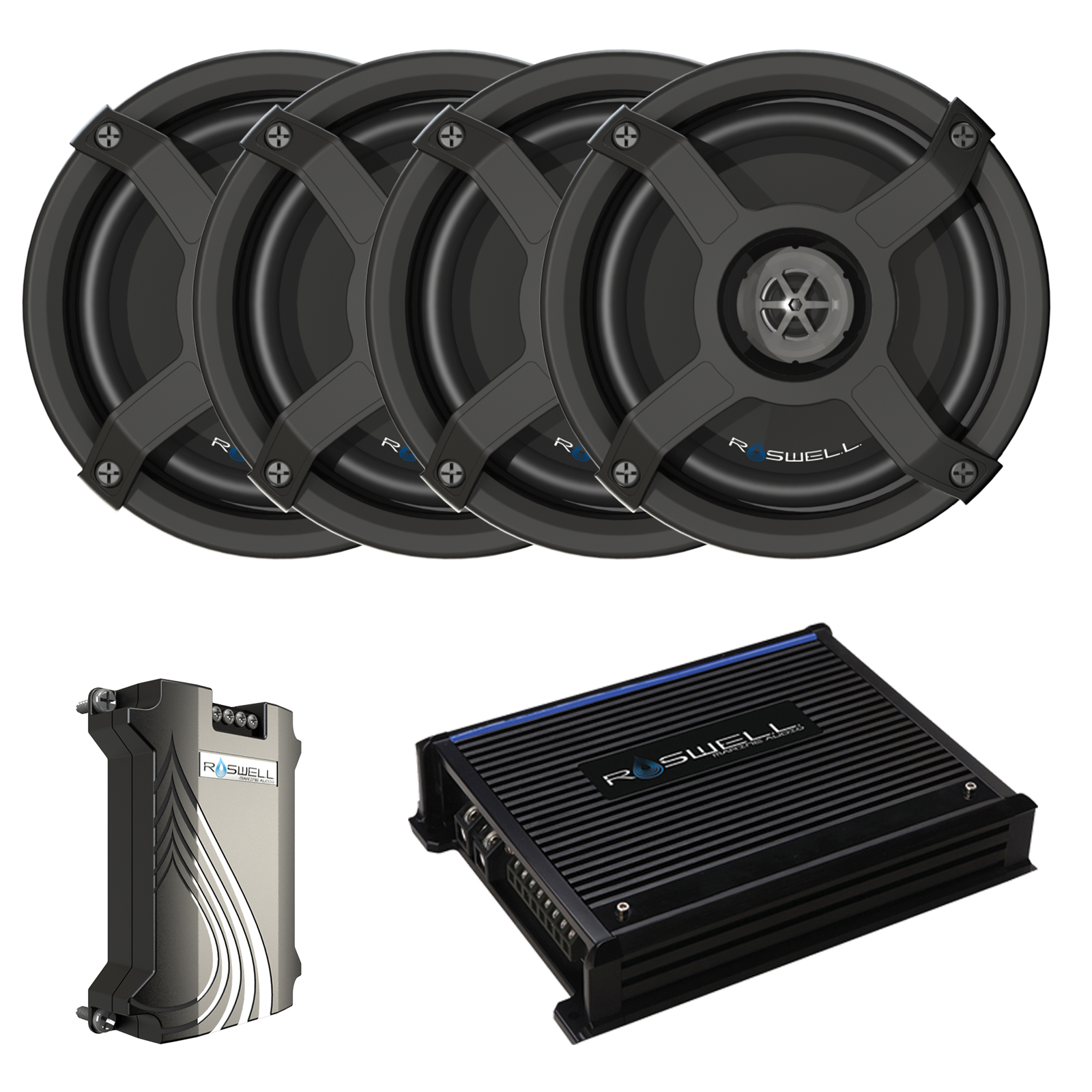 MAINE AUDIO 6510 IN-BOAT SPEAKER PACKAGE - BLACK ROSWELL 2018
