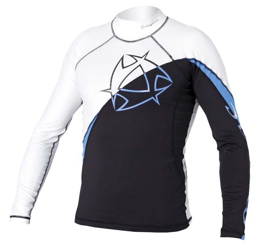 ARROW RASH VEST L/S | WHITE/BLUE MYSTIC 2018