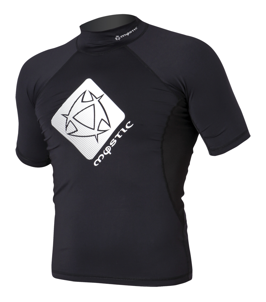 STAR RASH VEST MEN S/S | BLACK MYSTIC 2018